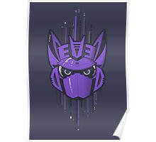 Decepticon Logo / Soundwave (solid color) Poster
