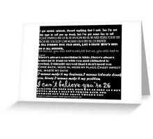 Catfish&the bottlemen lyrics Greeting Card