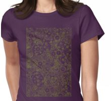 Clockwork Turquoise & Lime Womens Fitted T-Shirt