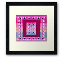 Cute and cool style desing love patchwork Framed Print