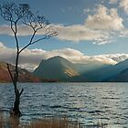 Last light on Fleetwith Pike Buttermere English Lake District by Martin Lawrence