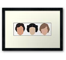 Han, Leia, Luke Framed Print
