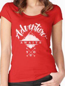 Adventure Awaits You - Cool Outdoor Shirt-Design Women's Fitted Scoop T-Shirt