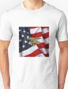 U.S. Navy SEALs Trident over American Flag  T-Shirt