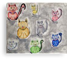 Cat Party Canvas Print
