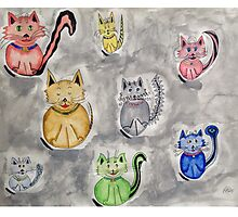 Cat Party Photographic Print