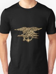 U.S. Navy SEALs Trident over Black Velvet T-Shirt