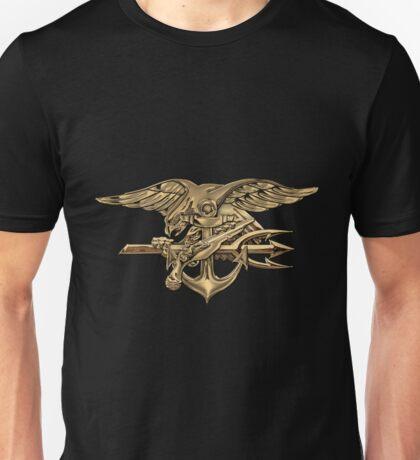 U.S. Navy SEALs Trident over Black Velvet Unisex T-Shirt