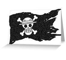One Piece Luffy Jolly Roger Greeting Card