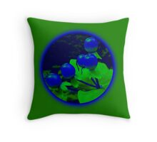 Berries green Throw Pillow