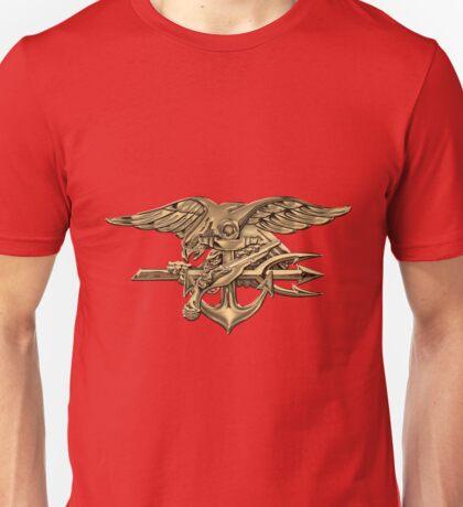 U.S. Navy SEALs Trident over Red Velvet Unisex T-Shirt