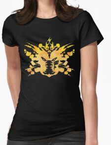Pikachu Rorschach test Womens Fitted T-Shirt