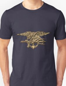 U.S. Navy SEALs Trident over Blue Velvet T-Shirt