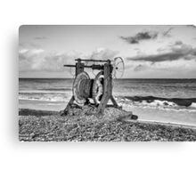 The boat winch Canvas Print