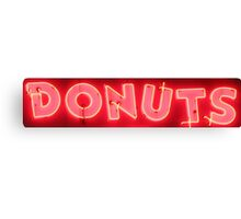 Neon Sign - Donuts Canvas Print