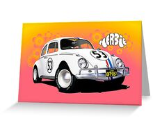 Herbie The Love Bug Greeting Card