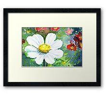 Cosmo flowers Framed Print