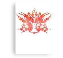 Pikachu Rorschach Test (Red) Canvas Print