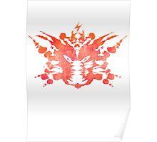 Pikachu Rorschach Test (Red) Poster