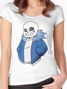 Undertale Sans! Vector Women's Fitted Scoop T-Shirt