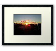 Suburb Sunset Framed Print