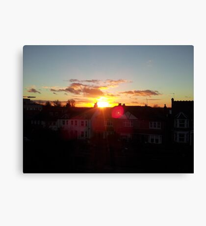 Suburb Sunset Canvas Print