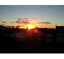 Suburb Sunset Photographic Print