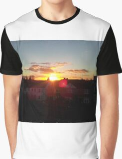 Suburb Sunset Graphic T-Shirt