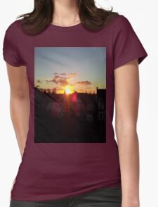 Suburb Sunset Womens Fitted T-Shirt