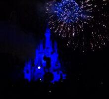 Magic Kingdom Castle Blue Fire works Sticker