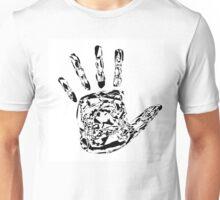 Monochrome graphic hand Unisex T-Shirt
