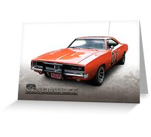 Dukes of Hazzard General Lee - 1969 Dodge Charger Greeting Card