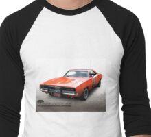 Dukes of Hazzard General Lee - 1969 Dodge Charger Men's Baseball ¾ T-Shirt