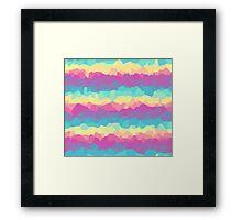 Bright rainbow Framed Print