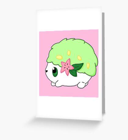 Cute Shaymin Land Form Pokemon Greeting Card
