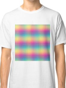 Colorful geometric rainbow Classic T-Shirt