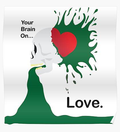 Love Sick Skull Poster