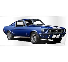 1968 Ford Mustang GT390 Poster