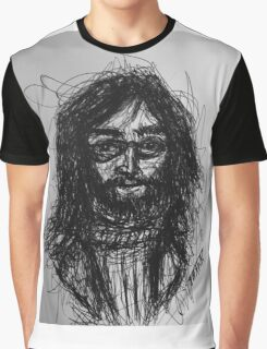 John Lennon Scribble Art Graphic T-Shirt