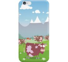 Cows on the meadow iPhone Case/Skin