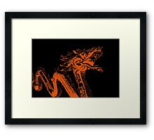 Neon Dragon Framed Print