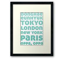 Oppa Oppa (Blue Ver) Framed Print