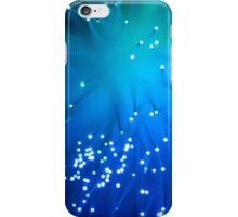 Blue Optical Fibers iPhone Case/Skin