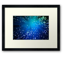 Blue Optical Fibers Framed Print