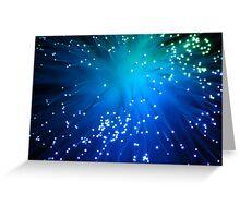 Blue Optical Fibers Greeting Card