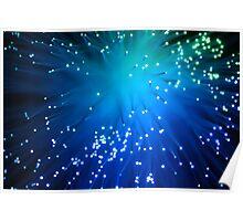 Blue Optical Fibers Poster