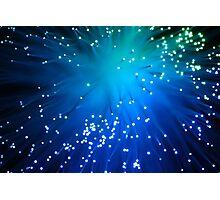Blue Optical Fibers Photographic Print