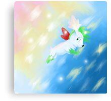 Shaymin Sky Forme Pokemon Canvas Print