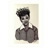 Lucy Lucille Ball Vintage Look Scribble Art Art Print