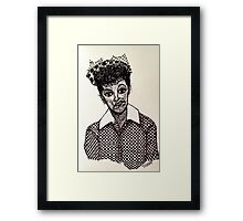 Lucy Lucille Ball Vintage Look Scribble Art Framed Print